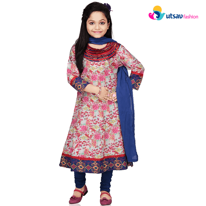 Utsavfashion - Girls anarkali suit