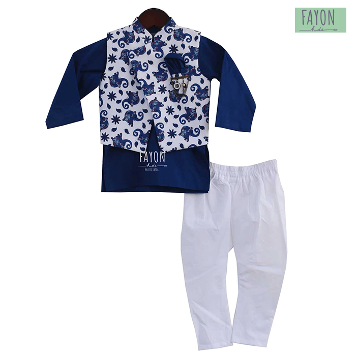 Nehru jacket set for boys fayonkids