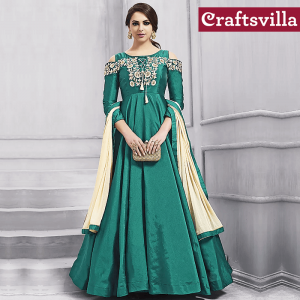 Silk Anarkali from Craftsvilla