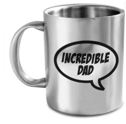 hot muggs incredible dad stainless steel mug