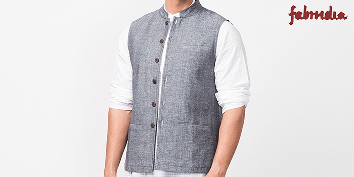 Chinese Collar Nehru Jacket