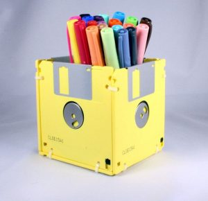 You Tube - Floppy Disk pen stand