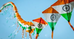 Independence Day kite flying celebration