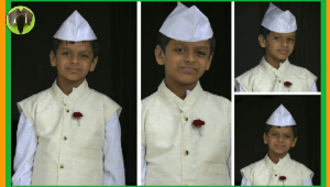 Nehru cap origami craft for kids