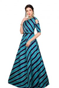 Ethnic India Silk Blue gown