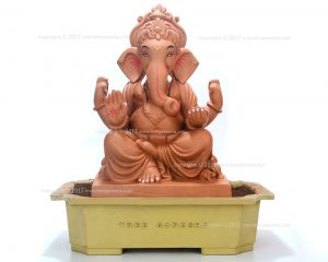 Ecofriendly Ganesha Idol made of red soil, organic fertilizer, natural colour and seeds