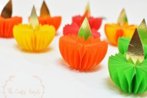 Paper craft diwali decor