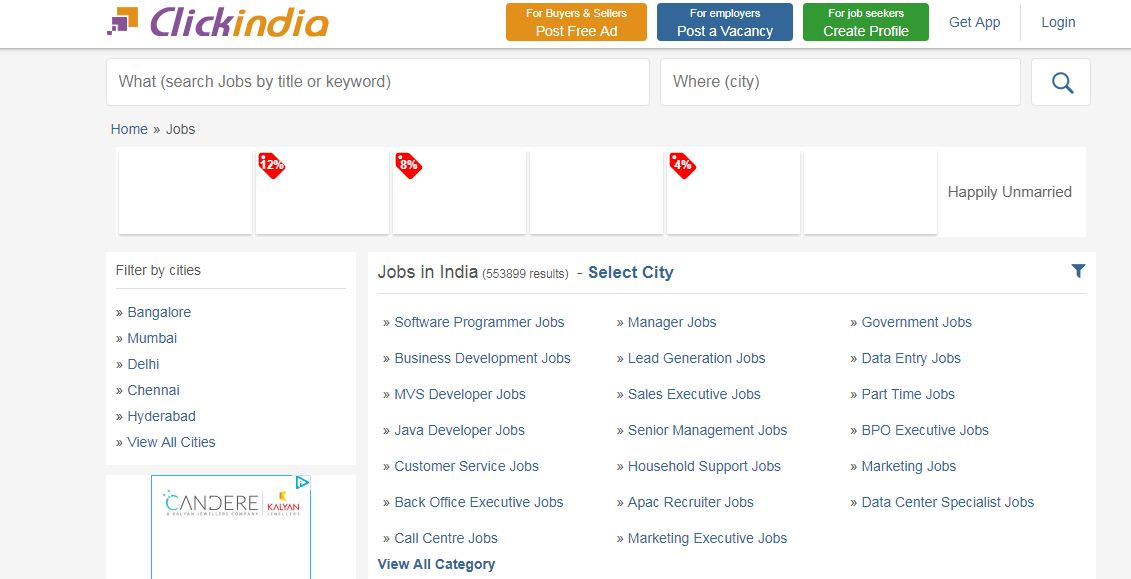 Clickindia Job Sites