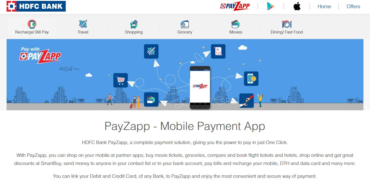 Payzapp app is from HDFC, Recharge your Mobile