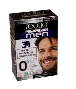 Aequo Color Men 2N Blackish Brown Organic Hair Colour Kit - 160ml