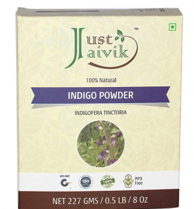 Just Jaivik 100% Natural Indigo Powder for Hair, 227g