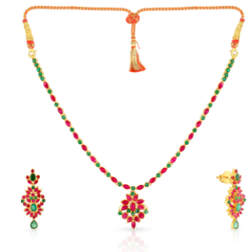 Precia Gemstone Gold Necklace Set