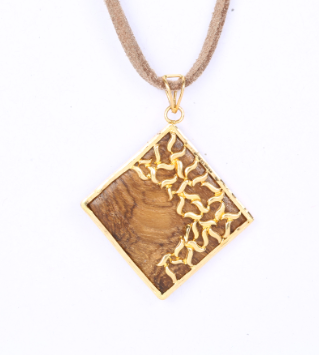 Net Loop Wood Pendant
