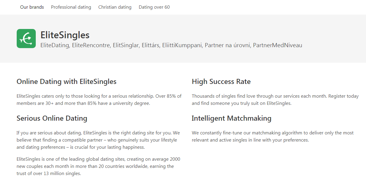 EliteSingles Dating Apps