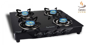 Gesto 3 Burner Vista Gas Stove, Black