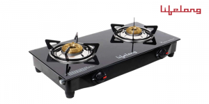Lifelong LLGS09 Glass Top Gas Stove, 2 Burner