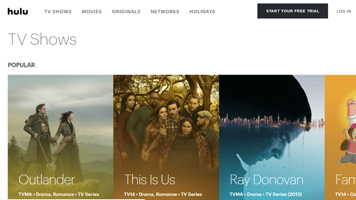 HULU Online TV Shows
