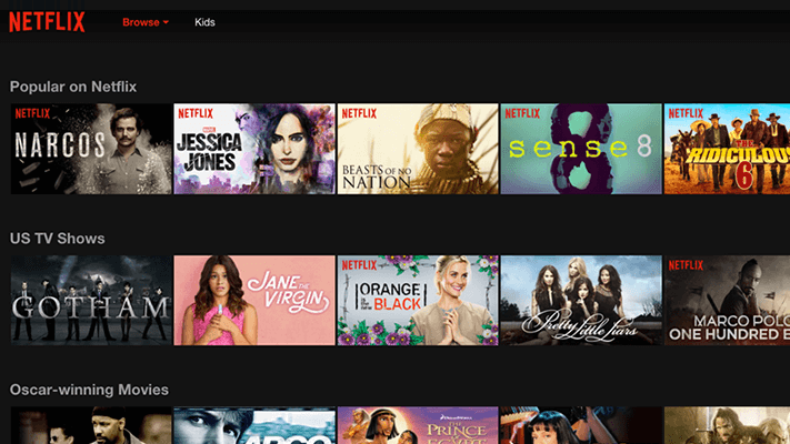 Netflix Online TV Shows