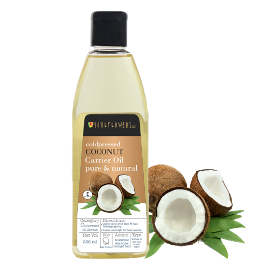 Soulflower Virgin Coldpressed Coconut Oil