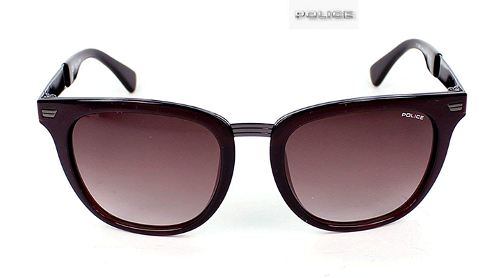 Police Men's Brown Wayfarer Sunglasses