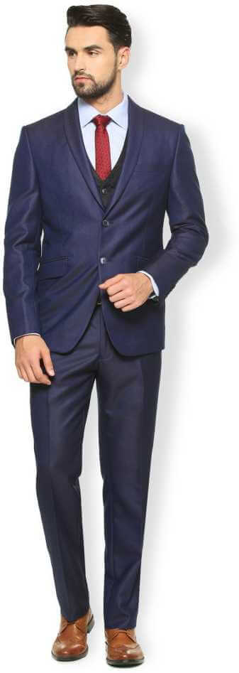 Van Heusen Blue Three Piece Suit