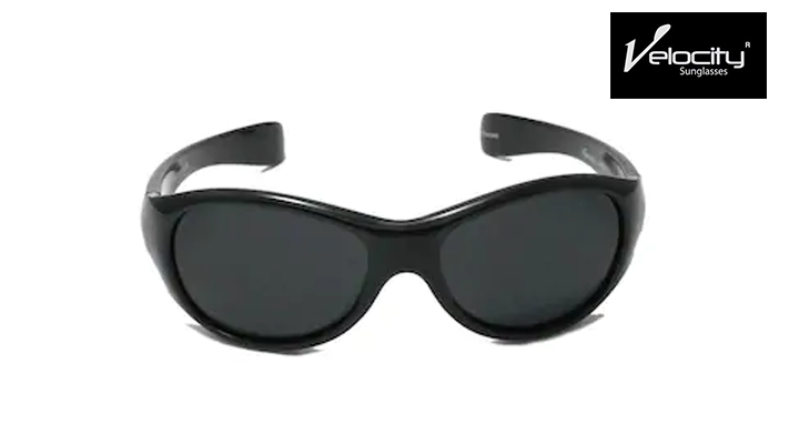 Velocity Black Polarized Sunglasses for Kids