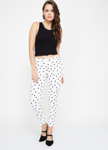 Lifestyle - CODE Printed Zipper Jeggings