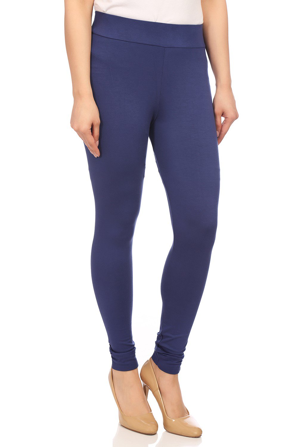 Navy Blue Viscose and Lycra Blue Leggings