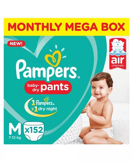 Pamper Pant Style Medium Size Diapers