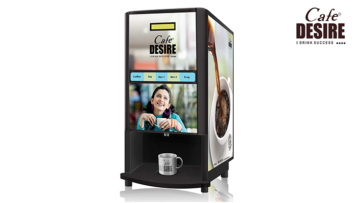 Cafe Desire Fresh Milk Coffee and Tea Vending Machine