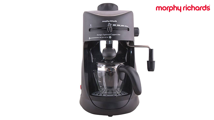 Morphy Richards New Europa 800-Watt Espresso and Cappuccino 4-Cup Coffee Maker