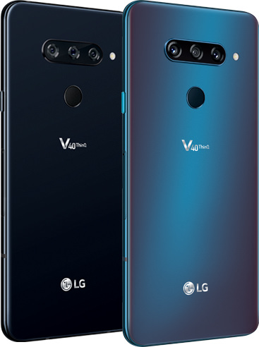 LG V40 ThinQ Display Side View