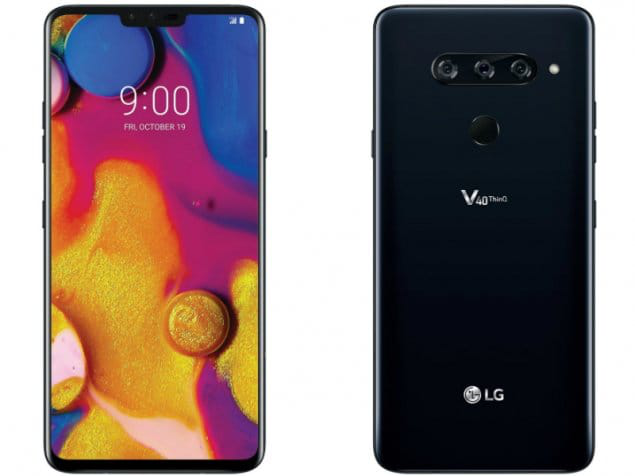 LG V40 ThinQ Design Front View