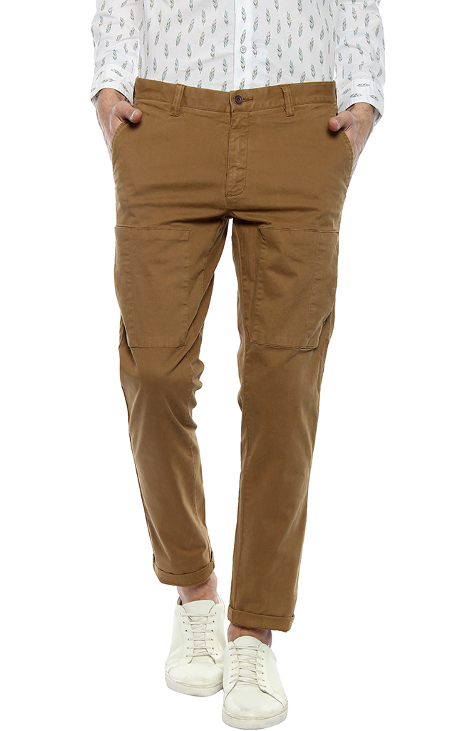 Urban Blackberrys Slim Fit Casual Cotton Trousers