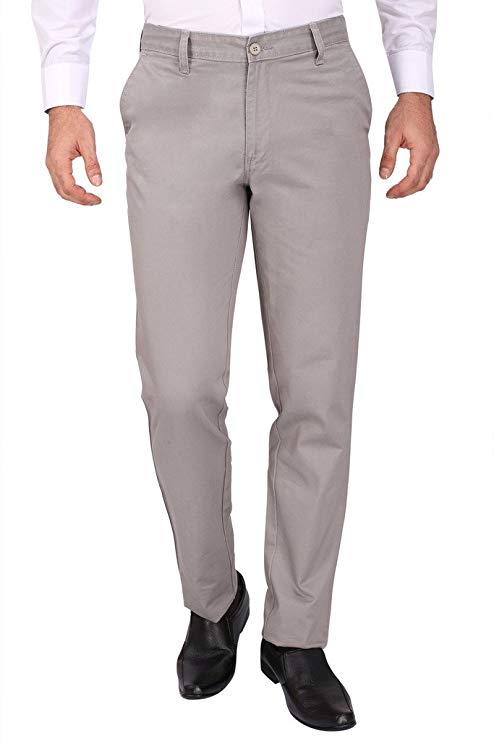 ColorPlus Flat Front Chino Trousers