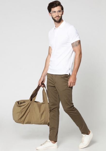Jack & Jones Brown Slim Fit Chinos