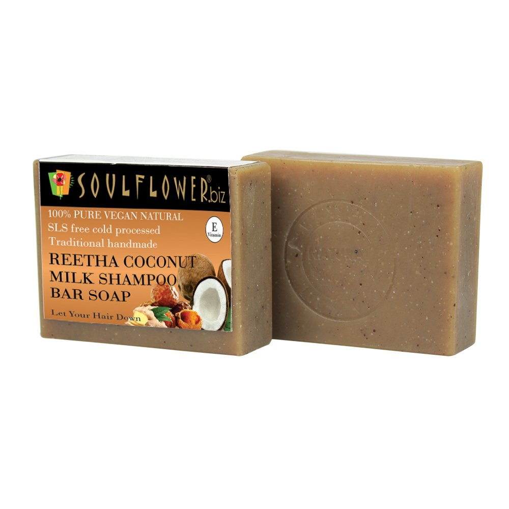 Soulflower Reetha Coconut Milk Shampoo Bar Soap.png