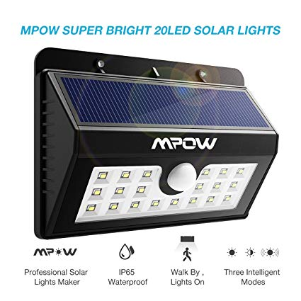 Mpow Super Bright 20 LED Solar Powered Wireless Weatherproof Outdoor Light
