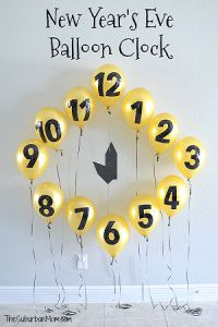 New Year Ballon Clock