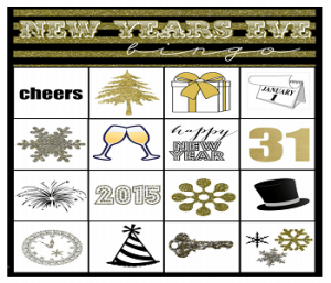 New Year Bingo Game